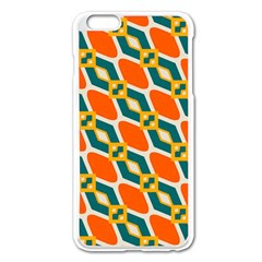 Chains And Squares Pattern 			apple Iphone 6 Plus/6s Plus Enamel White Case by LalyLauraFLM