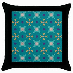 Flowers And Stars Pattern   			throw Pillow Case (black) by LalyLauraFLM