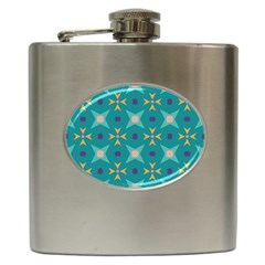 Flowers And Stars Pattern   			hip Flask (6 Oz) by LalyLauraFLM