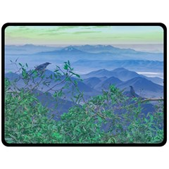 Fantasy Landscape Photo Collage Double Sided Fleece Blanket (large)  by dflcprints