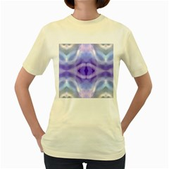 Beautiful Blue Purple Pastel Pattern, Women s Yellow T Shirt