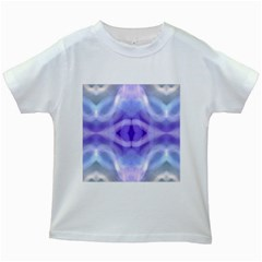 Beautiful Blue Purple Pastel Pattern, Kids White T Shirts