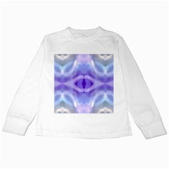 Beautiful Blue Purple Pastel Pattern, Kids Long Sleeve T Shirts