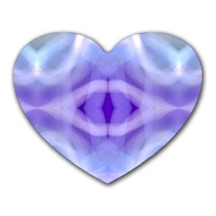 Beautiful Blue Purple Pastel Pattern, Heart Mousepads by Costasonlineshop