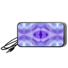 Beautiful Blue Purple Pastel Pattern, Portable Speaker (black)