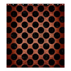 Circles2 Black Marble & Copper Brushed Metal (r) Shower Curtain 66  X 72  (large) by trendistuff