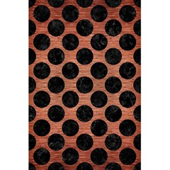 Circles2 Black Marble & Copper Brushed Metal (r) 5 5  X 8 5  Notebook
