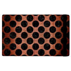 Circles2 Black Marble & Copper Brushed Metal (r) Apple Ipad 3/4 Flip Case by trendistuff