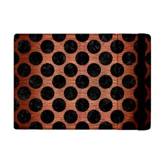 Circles2 Black Marble & Copper Brushed Metal (r) Apple Ipad Mini Flip Case by trendistuff
