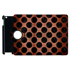 Circles2 Black Marble & Copper Brushed Metal (r) Apple Ipad 3/4 Flip 360 Case by trendistuff