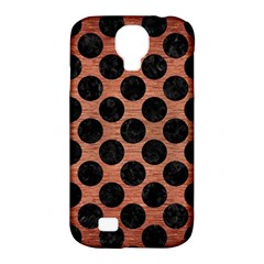 Circles2 Black Marble & Copper Brushed Metal (r) Samsung Galaxy S4 Classic Hardshell Case (pc+silicone) by trendistuff