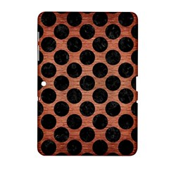 Circles2 Black Marble & Copper Brushed Metal (r) Samsung Galaxy Tab 2 (10 1 ) P5100 Hardshell Case  by trendistuff