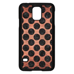 Circles2 Black Marble & Copper Brushed Metal (r) Samsung Galaxy S5 Case (black) by trendistuff