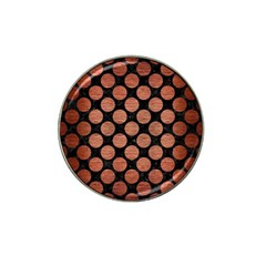 Circles2 Black Marble & Copper Brushed Metal Hat Clip Ball Marker (10 Pack) by trendistuff