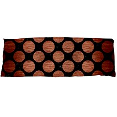 Circles2 Black Marble & Copper Brushed Metal Body Pillow Case (dakimakura) by trendistuff