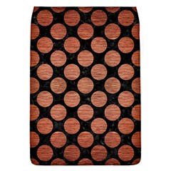 Circles2 Black Marble & Copper Brushed Metal Removable Flap Cover (l) by trendistuff