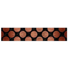 Circles2 Black Marble & Copper Brushed Metal Flano Scarf (small) by trendistuff