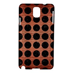 Circles1 Black Marble & Copper Brushed Metal (r) Samsung Galaxy Note 3 N9005 Hardshell Case by trendistuff