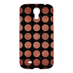 Circles1 Black Marble & Copper Brushed Metal Samsung Galaxy S4 I9500/i9505 Hardshell Case by trendistuff