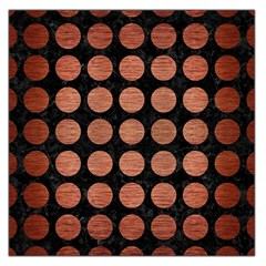 Circles1 Black Marble & Copper Brushed Metal Large Satin Scarf (square) by trendistuff
