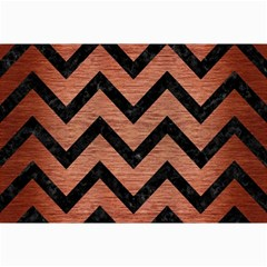 Chevron9 Black Marble & Copper Brushed Metal (r) Collage 12  X 18  by trendistuff