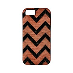 Chevron9 Black Marble & Copper Brushed Metal (r) Apple Iphone 5 Classic Hardshell Case (pc+silicone) by trendistuff