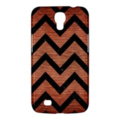 Chevron9 Black Marble & Copper Brushed Metal (r) Samsung Galaxy Mega 6 3  I9200 Hardshell Case by trendistuff