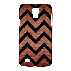Chevron9 Black Marble & Copper Brushed Metal (r) Samsung Galaxy S4 Active (i9295) Hardshell Case by trendistuff