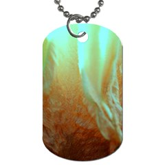 Floating Teal And Orange Peach Dog Tag (one Side) by timelessartoncanvas
