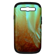 Floating Teal And Orange Peach Samsung Galaxy S Iii Hardshell Case (pc+silicone) by timelessartoncanvas
