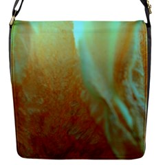Floating Teal And Orange Peach Flap Messenger Bag (s) by timelessartoncanvas