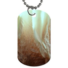 Floating Subdued Orange And Teal Dog Tag (two Sides) by timelessartoncanvas