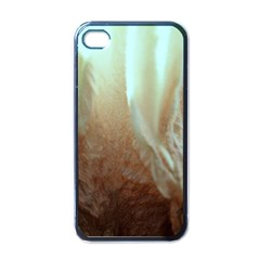 Floating Subdued Orange And Teal Apple Iphone 4 Case (black) by timelessartoncanvas