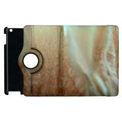 Floating Subdued Orange And Teal Apple Ipad 2 Flip 360 Case by timelessartoncanvas