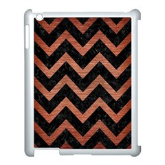 Chevron9 Black Marble & Copper Brushed Metal Apple Ipad 3/4 Case (white) by trendistuff