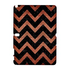 Chevron9 Black Marble & Copper Brushed Metal Samsung Galaxy Note 10 1 (p600) Hardshell Case by trendistuff