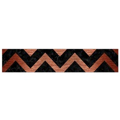 Chevron9 Black Marble & Copper Brushed Metal Flano Scarf (small) by trendistuff