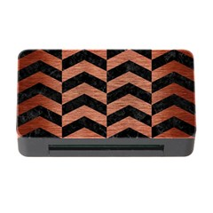 Chevron2 Black Marble & Copper Brushed Metal Memory Card Reader With Cf by trendistuff
