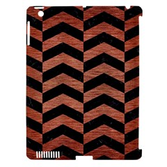 Chevron2 Black Marble & Copper Brushed Metal Apple Ipad 3/4 Hardshell Case (compatible With Smart Cover) by trendistuff