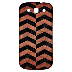 Chevron2 Black Marble & Copper Brushed Metal Samsung Galaxy S3 S Iii Classic Hardshell Back Case by trendistuff