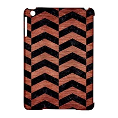 Chevron2 Black Marble & Copper Brushed Metal Apple Ipad Mini Hardshell Case (compatible With Smart Cover) by trendistuff