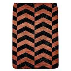 Chevron2 Black Marble & Copper Brushed Metal Removable Flap Cover (s) by trendistuff