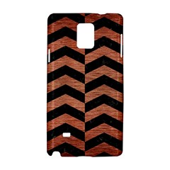Chevron2 Black Marble & Copper Brushed Metal Samsung Galaxy Note 4 Hardshell Case by trendistuff