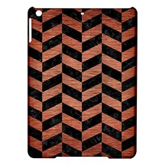 Chevron1 Black Marble & Copper Brushed Metal Apple Ipad Air Hardshell Case by trendistuff