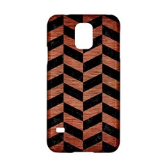 Chevron1 Black Marble & Copper Brushed Metal Samsung Galaxy S5 Hardshell Case  by trendistuff