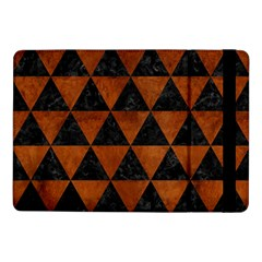 Triangle3 Black Marble & Brown Burl Wood Samsung Galaxy Tab Pro 10 1  Flip Case