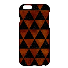 Triangle3 Black Marble & Brown Burl Wood Apple Iphone 6 Plus/6s Plus Hardshell Case by trendistuff