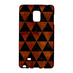 Triangle3 Black Marble & Brown Burl Wood Samsung Galaxy Note Edge Hardshell Case by trendistuff