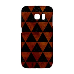 Triangle3 Black Marble & Brown Burl Wood Samsung Galaxy S6 Edge Hardshell Case by trendistuff