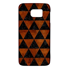 Triangle3 Black Marble & Brown Burl Wood Samsung Galaxy S6 Hardshell Case  by trendistuff